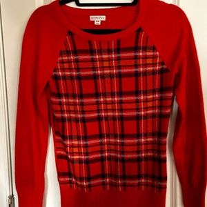 Merona Plaid Sweater (EUC)